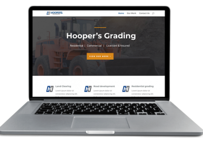 Land grading website development