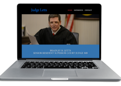 Laptop with Judge Letts website