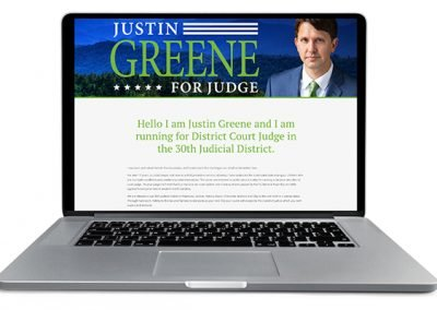 electjustingreene.com website
